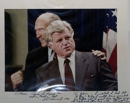 TED KENNEDY Autographed 11x14 photograph with Alan Simpson - $252.45