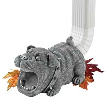 Gutter English Bulldog Downspout Architectural Home Lawn Accessory Sculp... - $43.51
