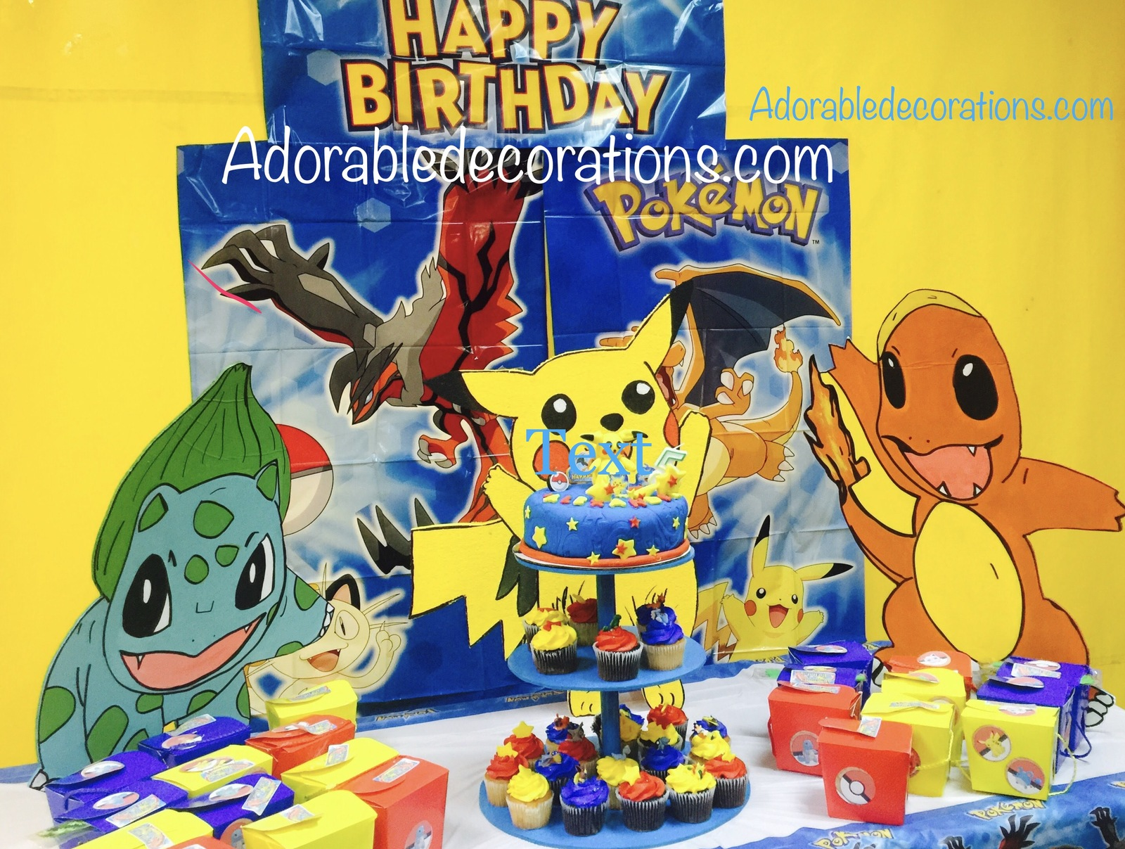 3 feet Wood Pokemon  Birthday. Photo Props Standees - One Character