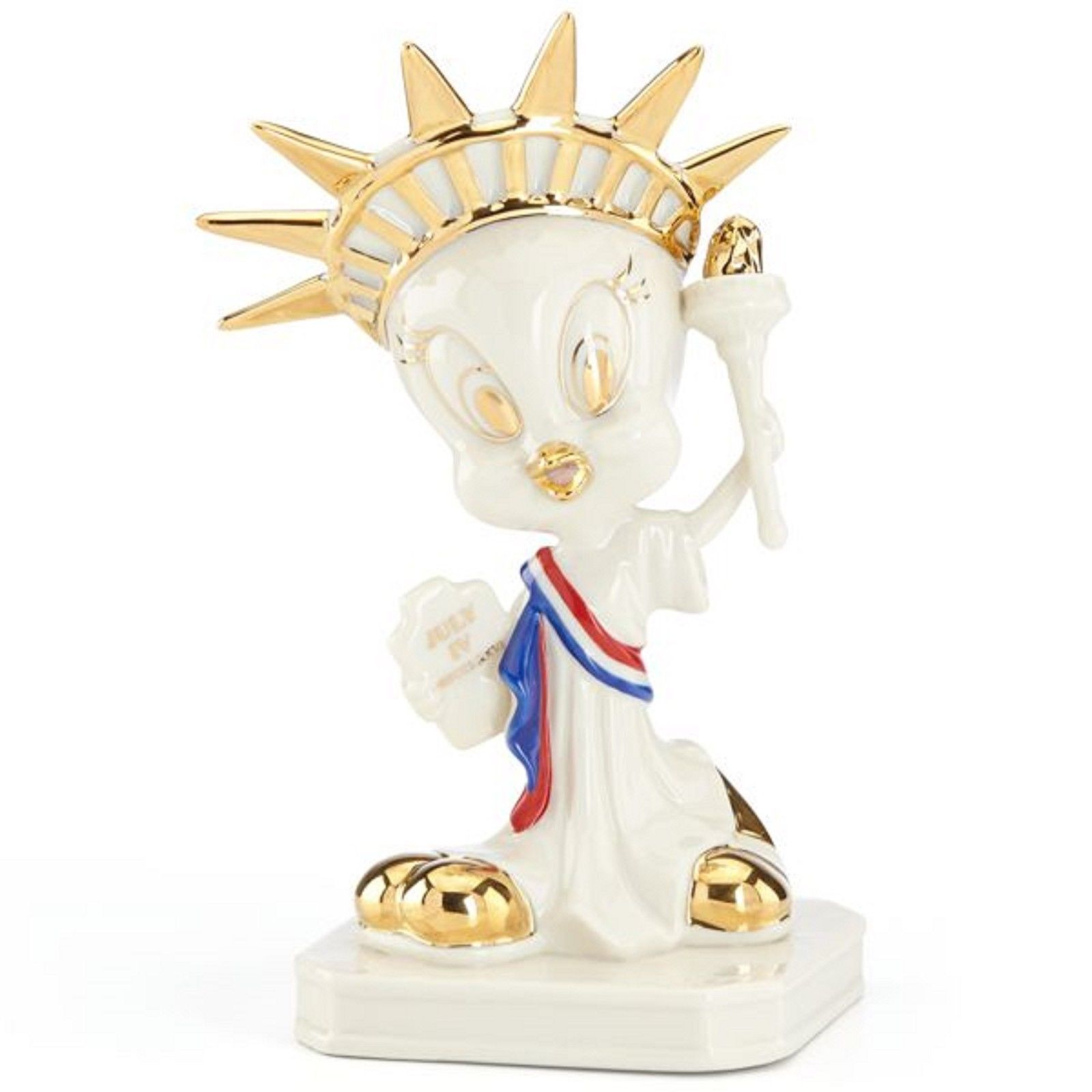 Lenox Tweety Statue Of Lady Liberty Figurine Patriotic