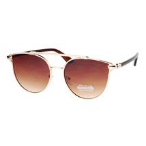 Designer Fashion Sunglasses Womens Round Cateye Horn Rim Aviator UV 400 - $11.95
