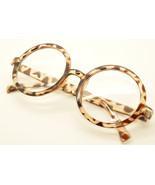 Leopard Vintage Geek Nerd Style Clear Lens Glass Frames Wizard Round Eye... - $7.91