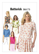 B617 Misses' Cropped Tops Sizes 14-22 Butterick... - $5.89