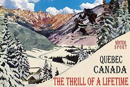 WINTER SPORT QUEBEC CANADA THE THRILL OF A LIFETIME COUPLE SKI JUMPING S... - $136.22