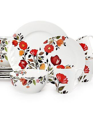 Kim Parker Tulips 16-PC Dinnerware Dish Set Service for 4