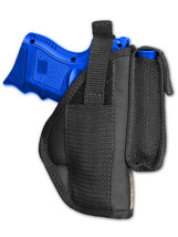 Barsony OWB Gun Holster w/ Magazine Pouch for S&W M&P SubComp Compact 9mm 40 45 - $24.99