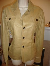 STYLISH BRAND NEW $1,280 DIESEL TAN LEATHER JACKET (NWT) - $295.00
