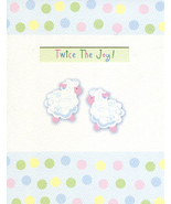 "Greeting Note Card New Baby (Twins) ""Twice The Joy!""  - $2.95"