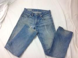"""GAP 1969 Straight Leg Distressed Blue Jeans Mens SZ 28 W 30 L / 30"""" W/ 29"""" L - $19.50"""