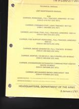 TM 9-2350-277-20-2 Army Technical Manual- Carriers- Mortar, Anti-Tank, P... - $14.97