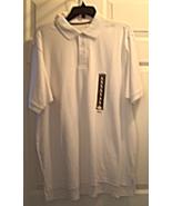 New Men's White Polo Shirt Size L Cotton Knit B... - $15.99