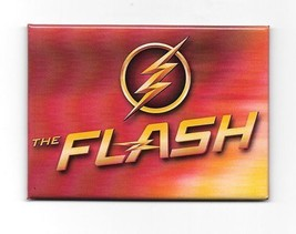 DC Comics The Flash TV Series Logo and Name Refrigerator Magnet, NEW UNUSED - $3.99