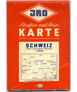 Vintage JRO Road Map Of Switzerland  - $5.00