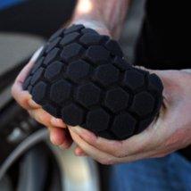 Chemical Guys BUFX203 HexLogic Finishing Hand Applicator Pad Black 3 in x 6 - ₨945.49 INR