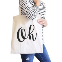 Oh Natural Canvas Bag Cute Calligraphy Eco Bags Gift For Students - $13.99