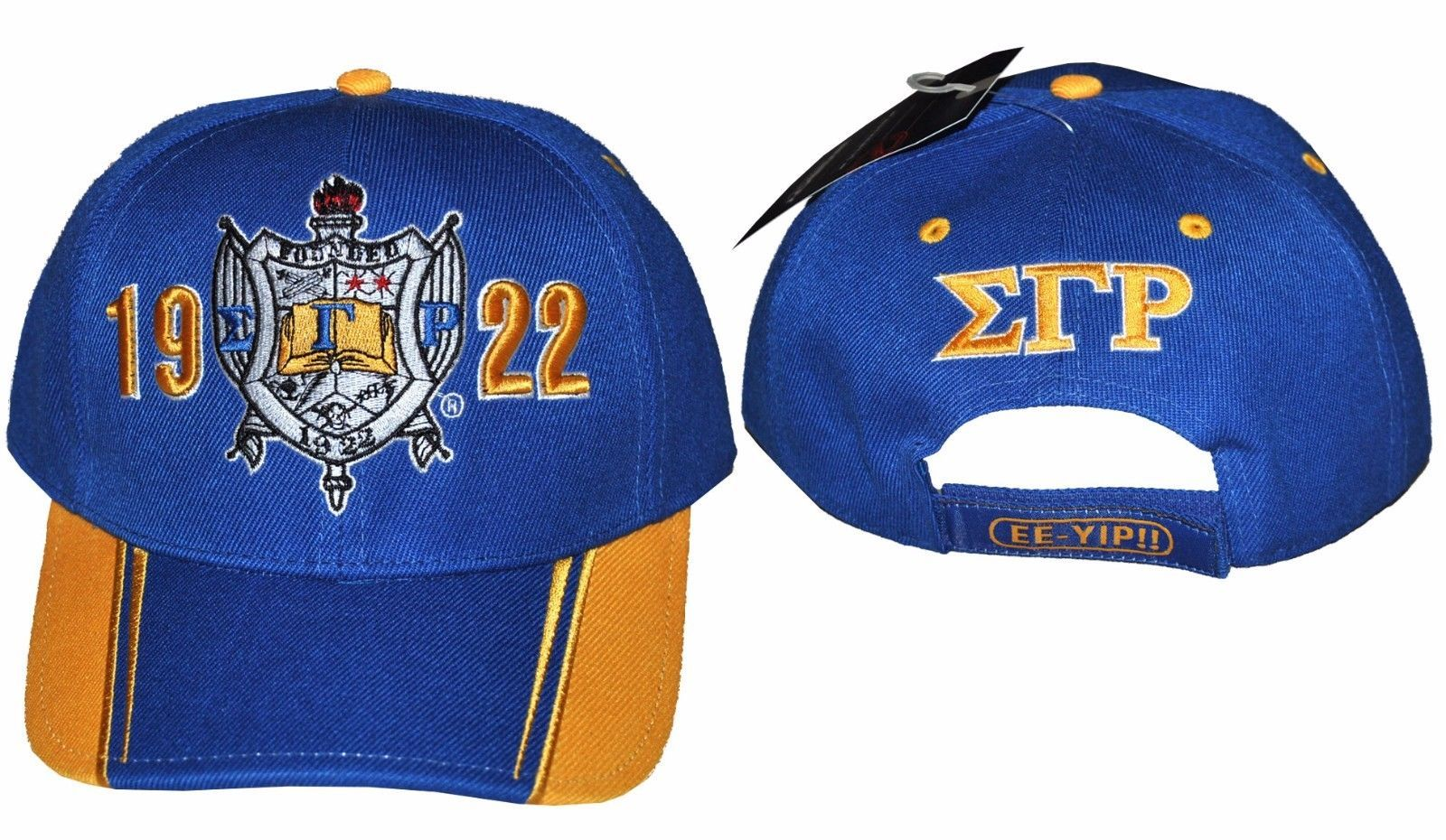 Primary image for SIGMA GAMMA RHO SORORITY BASEBALL HAT CAP BLUE GOLD SIGMA GAMMA RHO HAT #2