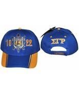 SIGMA GAMMA RHO SORORITY BASEBALL HAT CAP BLUE GOLD SIGMA GAMMA RHO HAT #2 - $22.53