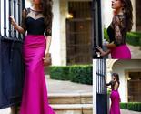 Ack top lace rose red half sleeves open back simple new design prom dress   pd0271 thumb155 crop