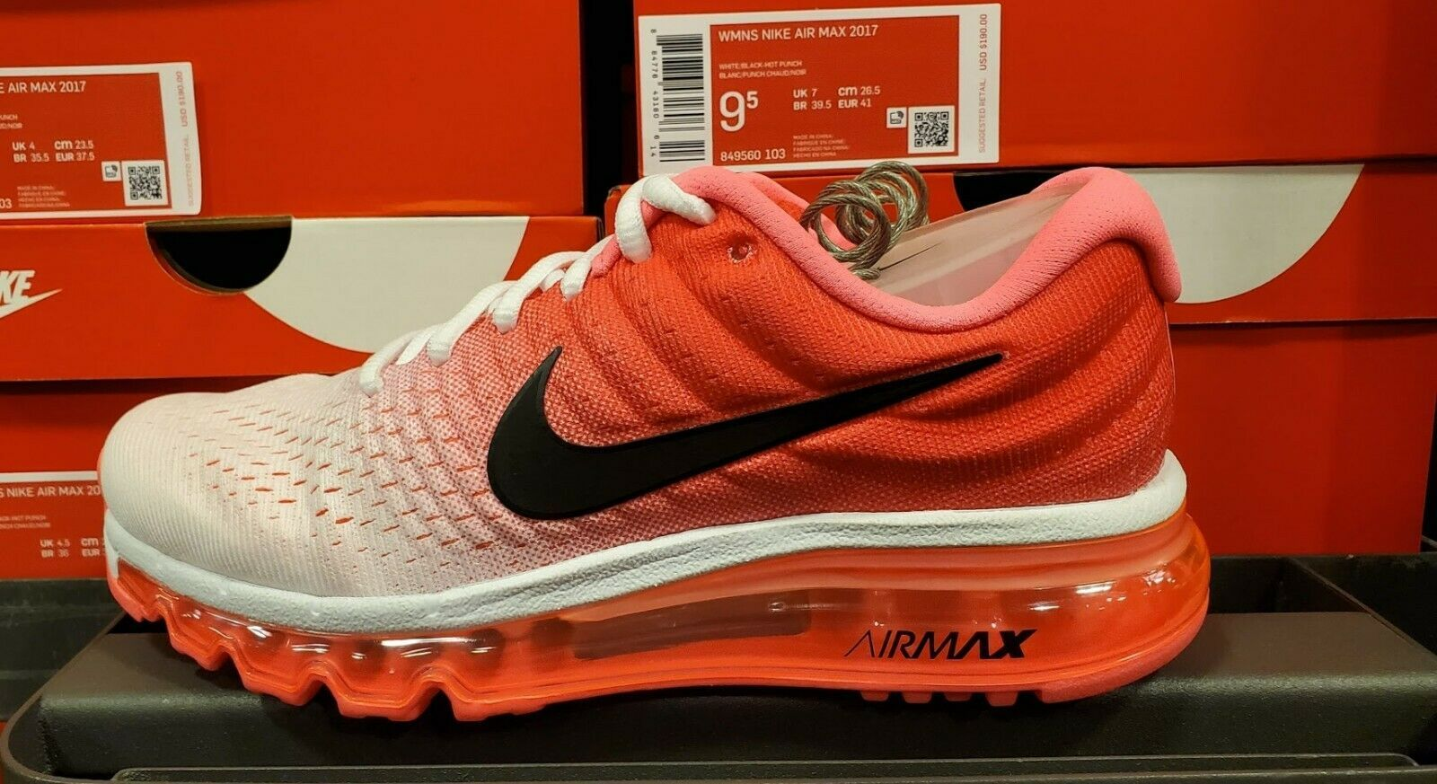 Women's Nike Air Max 2017 WhiteHot Punch and 50 similar items