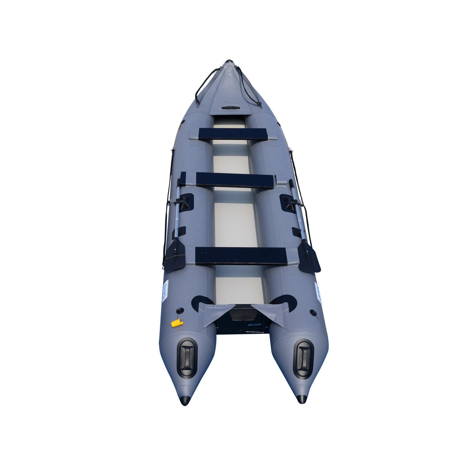 BRIS 14.1Ft Inflatable Kayak Boat Fishing Tender Poonton Inflatable Canoe Boats