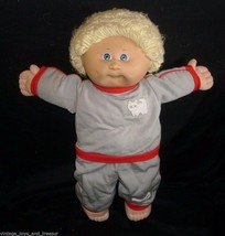 Vintage Cabbage Patch Kids Boy Blonde Hair Baby Stuffed Animal Plush Toy Doll P - $32.73