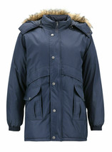 Men's Heavy Weight Winter Coat Removable Hood Puffer Parka Jacket w/ Defect  2XL