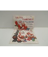 Peck 315-051 Santa's Christmas Velvety Paper Decorations Decor Wall List... - $19.99