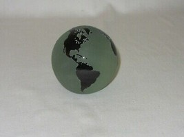 Vintage Glass Paperweight Studio Art Globe World Signed Correia Frosted ... - $59.39