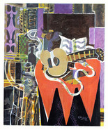 Georges Braque 1942 GRAVURE w/coa CLASSIC CUBISM WORK, unique gift VERY ... - $249.00