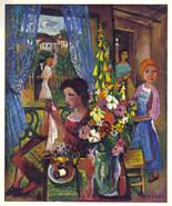 CHARLES WALCH 1942 GRAVURE PRINT w/COA. Unique Charles Walch Art Superb ... - $249.00