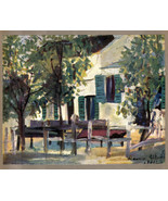 Maurice Utrillo 1935 LITHO PRINT w/COA unique gift of VERY exclusive VIN... - $170.33