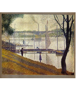 GEORGES SEURAT 1935 LITHO PRINT w/COA unique gift or investment in VERY ... - $189.00