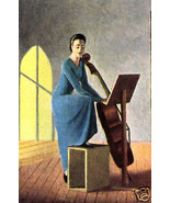 PIERRE ROY LITHO PRINT 1935 w/COA unique present of MAGNIFICENT MUSICAL ... - $189.00