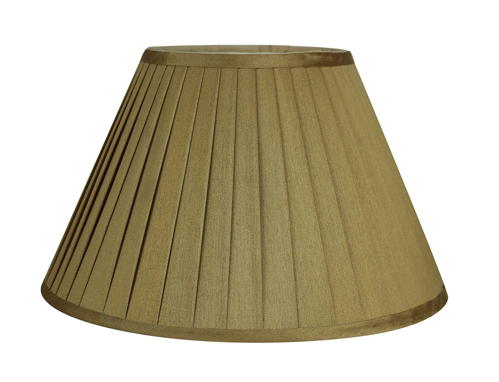 Urbanest Softback Side Pleat Lampshade, Faux Silk, 7-inch by 14-inch by 9-inch,