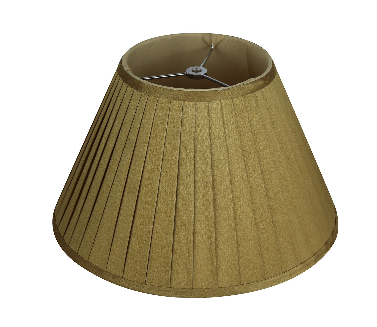 Urbanest Softback Side Pleat Lampshade, Faux Silk, 7-inch by 14-inch by 9-inch,  image 2