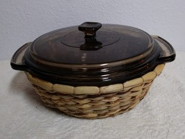 Vintage anchor hocking 1.5 qt. casserole dish with carrier - $15.00