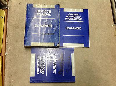 2002 DODGE DURANGO Service Repair Shop Workshop Manual Set W Diagnostics OEM