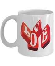 Love Tiles.11 oz White Ceramic Coffee or Tea Mug - $15.99