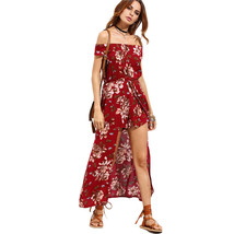 Women's Floral Off Shoulder Boho Summer Playsuit Jumpsuit Romper Long Ma... - $55.00