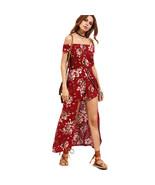 Women's Floral Off Shoulder Boho Summer Playsuit Jumpsuit Romper Long Ma... - $55.00
