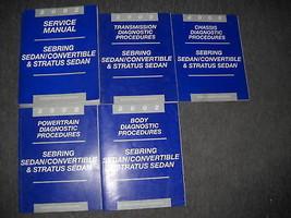 2002 Sebring SEDAN Service Shop Repair Manual SET FACTORY 02 BOOK DEALER... - $98.99