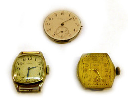 MIX LOT OF VINTAGE ELGIN WRISTWATCH FOR PARTS O... - $37.39