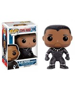 Funko Pop Marvel Captain America: Civil War Black Panther Unmasked Exclu... - $24.45