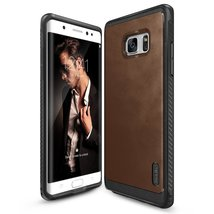 Galaxy Note 7 Case, Ringke [Flex S Series] Coated Textured Leather Style... - $12.99