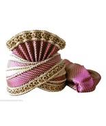 MEN HAT SAFA INDIAN WEDDING PAGRI DESIGNER GROOM TURBAN HANDMADE PAG KCI... - $79.99