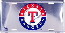 MLB Texas Rangers Chrome Metal Car License Plat... - $5.95