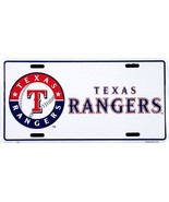 MLB Texas Rangers White Aluminum Metal Car License Plate Auto Tag - $5.56