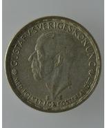 Swedish 1 Krona SET: One 1946 and One 1947 Gust... - $20.80