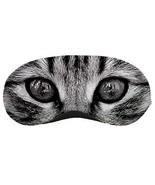 Gray Cat Sleeping Eye Night Mask - $8.55