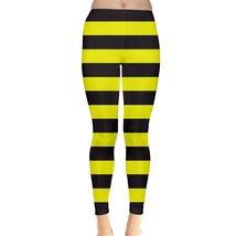 Bumble Bee Yellow Black Stripes Legging XS, S, M, L, XL, 2XL, 3XL, 4XL, ... - $29.45